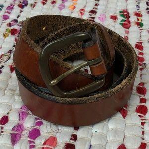 Vintage Brown Leather Distressed Belt